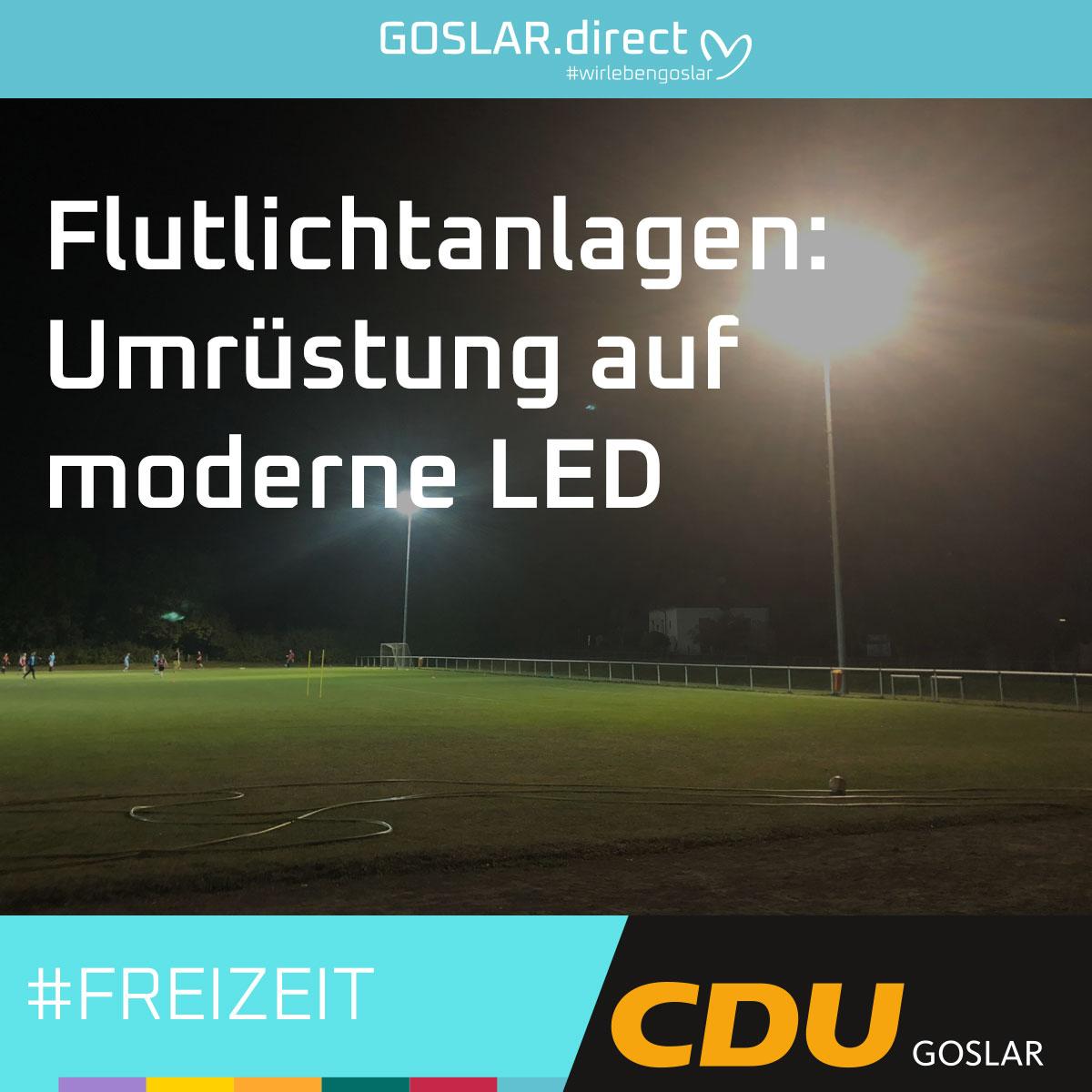 Flutlichtanlagen: Umrüstung auf moderne LED