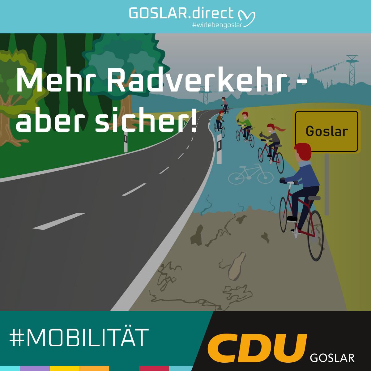 Mehr Radverkehr - aber sicher!