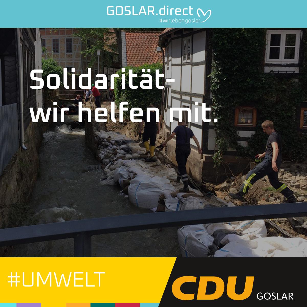 Solidarität mit den Hochwasseropfern